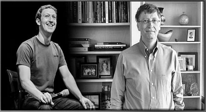 Bill Gates ile Mark Zuckerberg