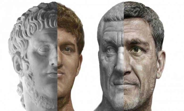 İmparatorlar Nero (solda) ve Thrax (sağda)